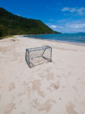 A Beach Soccer Goal. In Koh Chang Island, Thailand royalty free stock photo