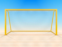 Beach soccer goal post with net, front view Royalty Free Stock Image