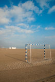Beach soccer goals Royalty Free Stock Images
