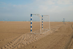 Beach soccer goals Royalty Free Stock Image