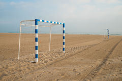 Beach soccer goals Royalty Free Stock Photography