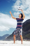 Beach soccer man Royalty Free Stock Photo