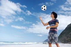Beach soccer man Stock Photography