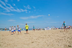 Beach soccer tournament Royalty Free Stock Photo