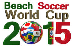 Beach soccer 2015 World Cup, Portugal. Concept Stock Photography