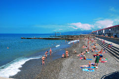 Beach in Sochi. Russia Stock Images
