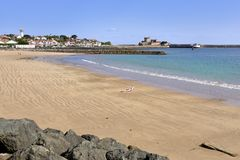 Beach of Socoa at Cibourre in France Stock Images