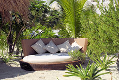 Beach Sofa. Hidden away between trees for relaxation Stock Photography