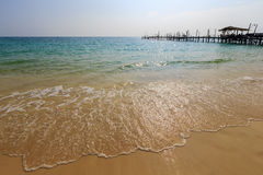 The beach. Soft wave of the sea on the sandy beach Stock Photography