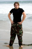 Beach Soldier Royalty Free Stock Image
