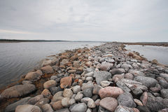 Beach on Solovetsky island, Russia Royalty Free Stock Images