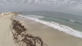 Beach of Son Sera de Marina  - Aerial Flight, Mallorca stock video footage