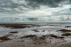 Beach in Sonderho at Fanoe in Denmark where the wadden sea begin Stock Photo