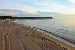 Beach in Sopot. Sunrise on the beach in Sopot. Poland Stock Photography