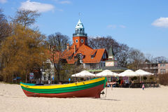 At the beach in Sopot, Poland Royalty Free Stock Photography