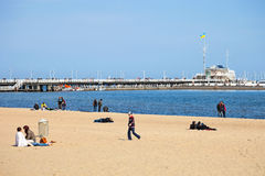 At the beach in Sopot, Poland. Royalty Free Stock Photography