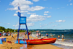 Beach in Sopot Royalty Free Stock Photo