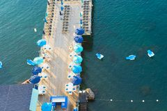 Sorrento, southern Italy. Beach of Sorrento aerial view, southern Italy Stock Photography