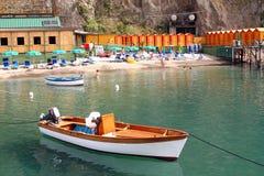 Beach Sorrento Italy. Beach of Sorrento in the Amalfi Coast Stock Image