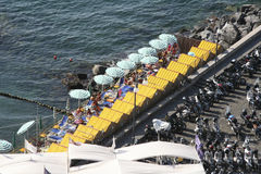 Beach in Sorrento, Italy Stock Images