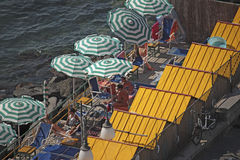 Beach in Sorrento, Italy Royalty Free Stock Images