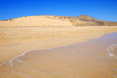 Beach Sotavento on the Canary Island Fuerteventura, Spain. Royalty Free Stock Photos