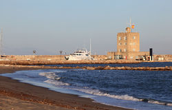 Beach in Sotogrande, Spain Stock Photo