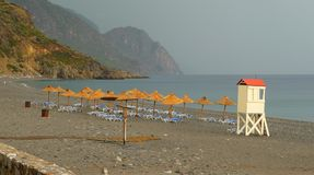 Beach of Sougia. Crete, Greece royalty free stock photos