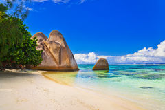 Free Beach Source D Argent At Seychelles Royalty Free Stock Images - 14375379