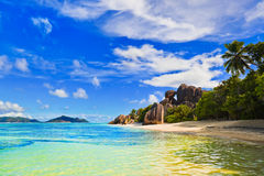 Beach Source d'Argent at Seychelles Royalty Free Stock Image