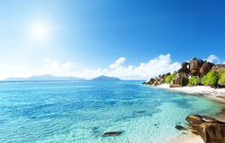 Beach Source d'Argent, Seychelles Stock Photos