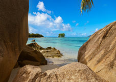 Beach Source d'Argent at Seychelles Stock Image
