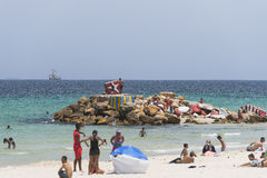 Beach in sousse Royalty Free Stock Image