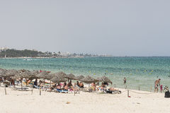 Beach in sousse Stock Photo