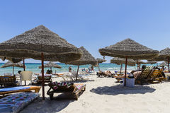 Beach in sousse Stock Photography