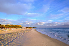 Beach in Sousse, Tunisia Royalty Free Stock Photography