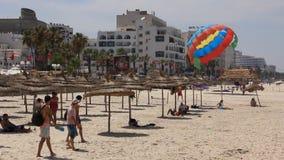 Beach in Sousse, Tunisia stock footage