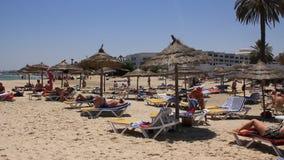 Beach in Sousse, Tunisia stock video