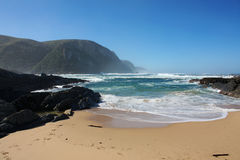 Beach in South Africa. Beautiful beach in Tsitsikamma natural park in South Africa stock photo