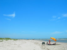 Beach in south carolina america. Beach scene in south carolina united states Royalty Free Stock Photo