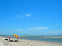 Beach in south carolina america Royalty Free Stock Images