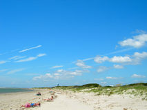 Beach in south carolina america Royalty Free Stock Photo