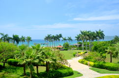 Beach in South Chinese Sea, China, Hainan Royalty Free Stock Photos