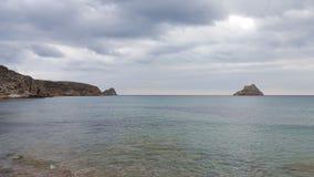 Beach. A beach at the south coast of crete Stock Photo