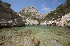 The beach of South France. The beach of the calanques near Marseille in South France Stock Photography