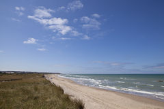 The Beach South of Hirtshal, Jutland. Royalty Free Stock Images