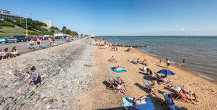 Beach in Southend on sea. Southend on sea, UK - June 18, 2017: Beach in a summer sunny day Stock Photos