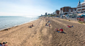 Beach in Southend on sea. Southend on sea, UK - June 18, 2017: Beach in a summer sunny day Stock Images