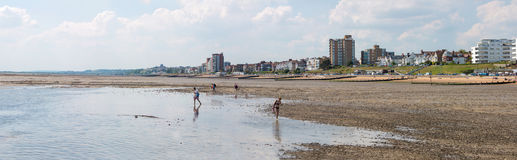 Beach in Southend on sea. Southend on sea, UK - June 18, 2017: Beach during a tide out Stock Photo