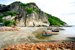 The beach of southern of Thailand with fisherman boat Stock Images